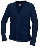 Academy of Holy Angels - Unisex V-Neck Cardigan Sweater with Pockets