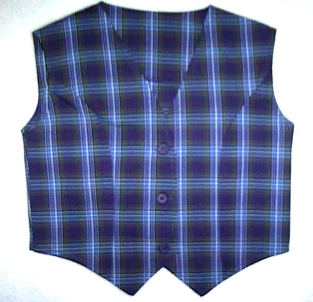 Girls Plaid Vests
