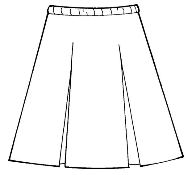 3498 Box Pleat Skirt 100 Polyester Plaid 98
