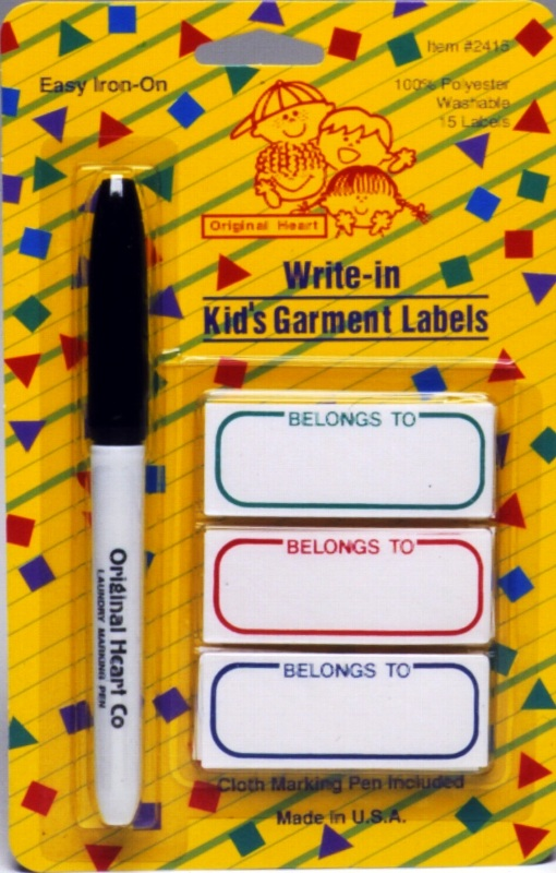 Iron-On Garment Labels - Value Pack with Marker
