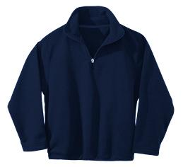 Mother of Good Counsel - Unisex 1/2 Zip Microfleece Pullover Jacket - Elderado