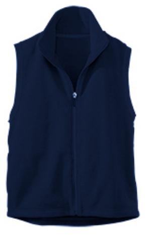 Assumption Catholic School - Unisex Full Zip Microfleece Vest - Elderado