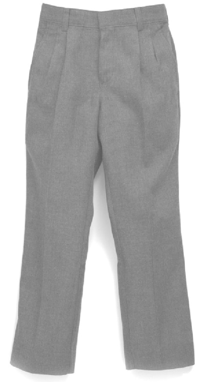 Boys Flannel Dress Pants - Pleated Front - #1258 - Grey