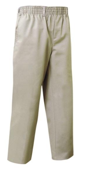 Unisex Pull-On Pants - All Around Elastic - Khaki