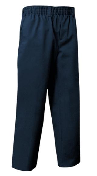 Unisex Pull-On Pants - All Around Elastic - Navy Blue