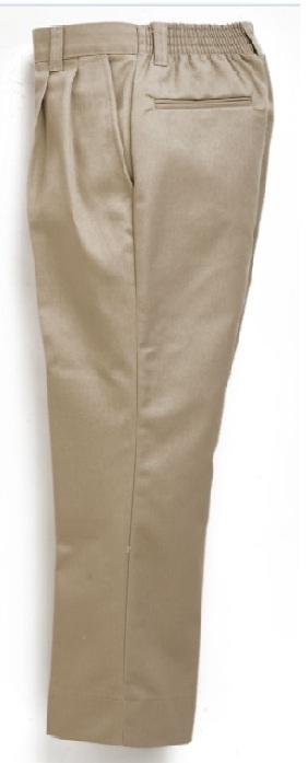 Boys Twill Pants - Elastic Back - #1268/1368 - Khaki