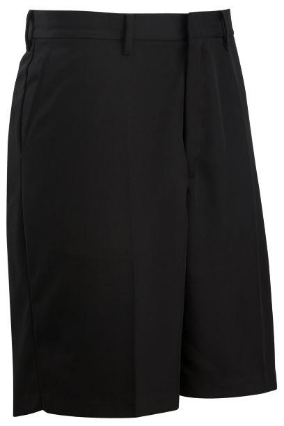 Boys Flat Front Microfiber Shorts - #1328 - Black