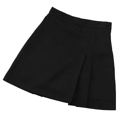 Pleated Front and Back Scooter Skort #2653 - Black