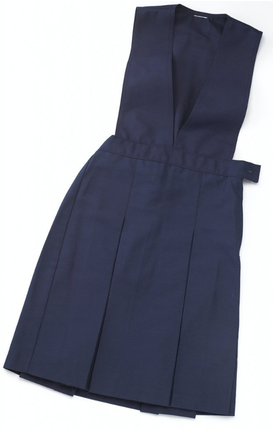Split Front Jumper - Box Pleats #2760 - Navy Blue
