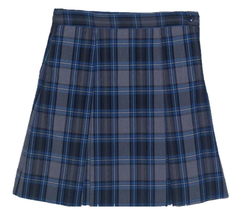 #3447 Box Pleat Skirt - 100% Polyester - Plaid #47