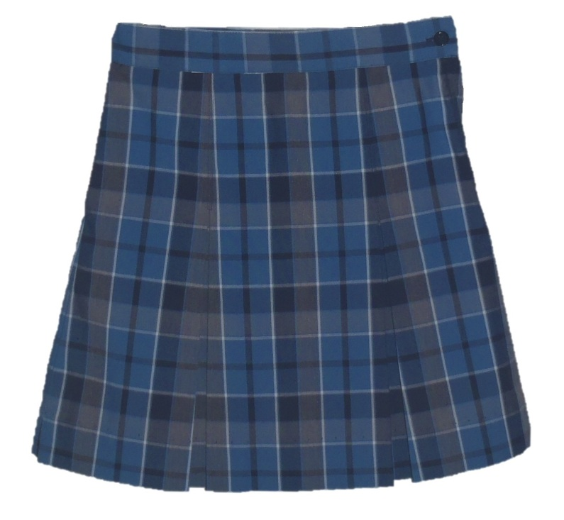 Traditional Waist Skirt - Box Pleats - Polyester/Cotton - Plaid #59