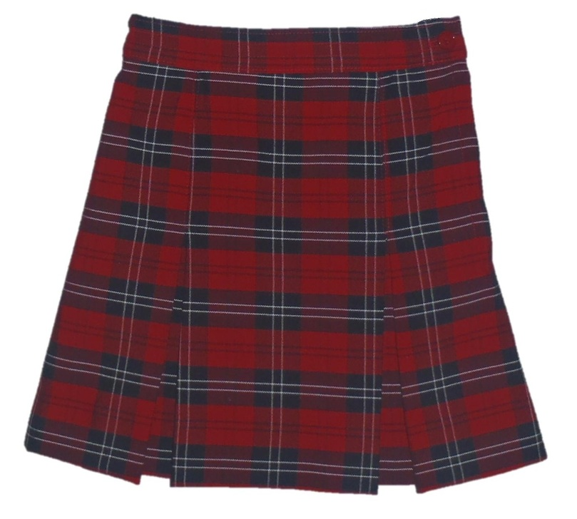 Traditional Waist Skirt - Box Pleats - 100% Polyester - Plaid #70