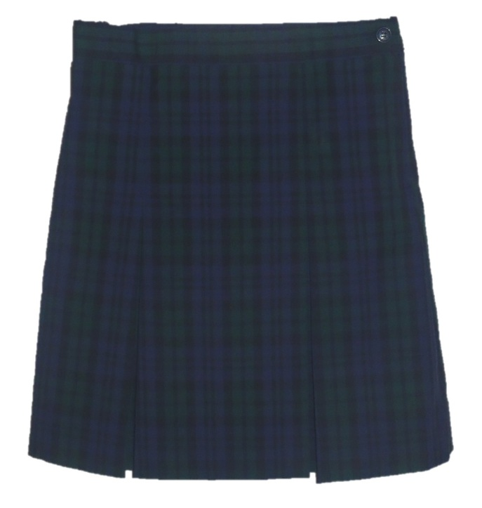 Traditional Waist Skirt - Box Pleats - Polyester/Cotton - Plaid #77