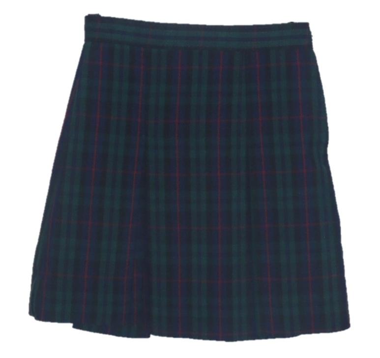 Traditional Waist Skirt - Box Pleats - 100% Polyester - Plaid #98
