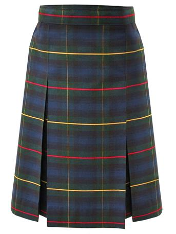 Traditional Waist Skirt - Box Pleats - Polyester/Cotton - Plaid #55