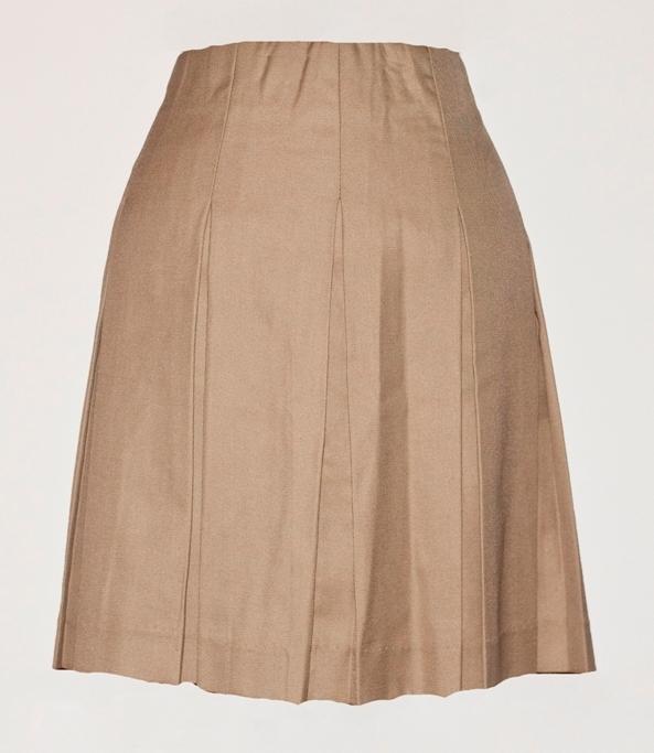 #4435 Knife Pleat Skirt - Drop Waist - Khaki