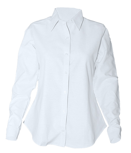 Women's Fitted Oxford Dress Shirt with Dress Collar - Long Sleeve