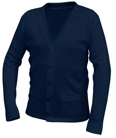 Ave Maria Academy - Unisex V-Neck Cardigan Sweater with Pockets