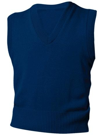 Unisex V-Neck Sweater Vest - Navy Blue