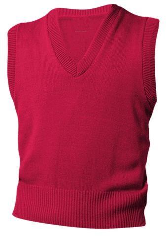 Unisex V-Neck Sweater Vest - Red