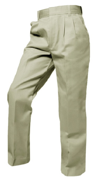 Boys Twill Pants - Pleated Front - A+ #7000/7062 - Khaki