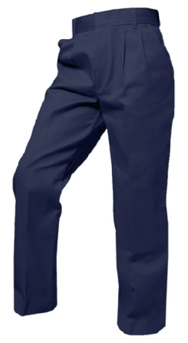 Boys Twill Pants - Pleated Front - A+ #7000/7062 - Navy Blue