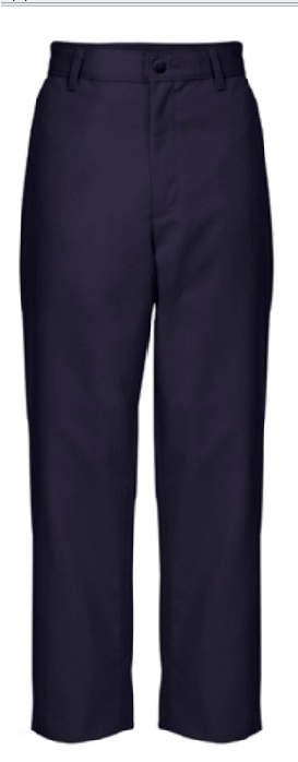Boys Relaxed Fit Twill Pants - Flat Front - A+ #7021/7750 - Navy Blue