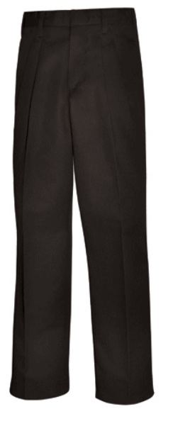 Boys Twill Pants - Pleated Front - A+ #7027/7022 - Black