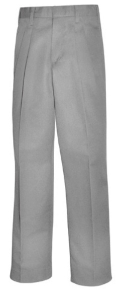 Boys Twill Pants - Pleated Front - A+ #7027/7022 - Grey