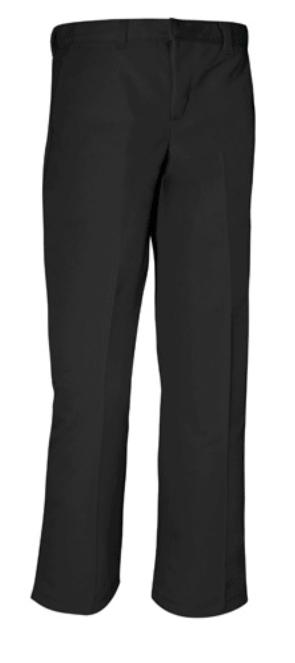 Boys Relaxed Fit Twill Pants - Flat Front - A+ #7021/7750 - Black