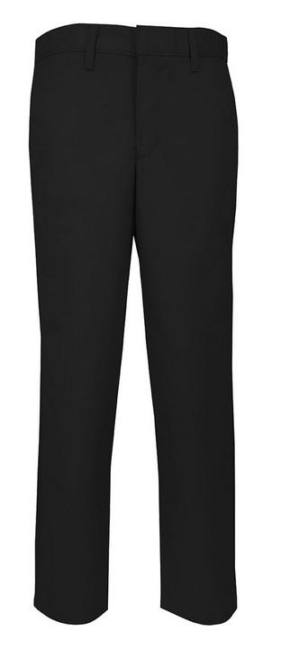 Boys Modern Fit Twill Pants - Flat Front - A+ #7893/7894 - Black