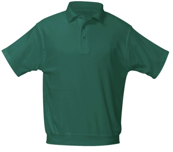 Annunciation Catholic School - Unisex Interlock Knit Polo Shirt with Banded Bottom - Short Sleeve