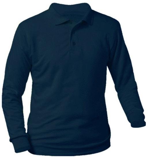 Magnuson Christian School - Unisex Interlock Knit Polo Shirt - Long Sleeve