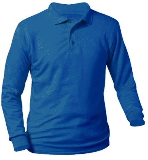 St. Mary's School - New Richmond - Unisex Interlock Knit Polo Shirt - Long Sleeve