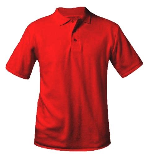 Unisex Interlock Knit Polo Shirt - Short Sleeve - Red