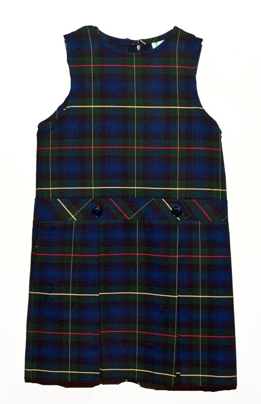 #9455 Drop Waist Jumper - Box Pleats - Poly/Cotton - Plaid #55