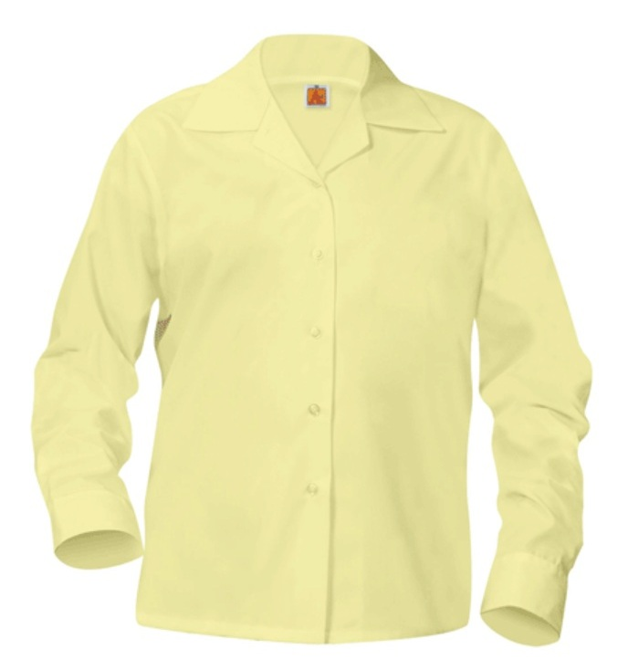 Girls Classic Collar Blouse - Long Sleeve - Yellow
