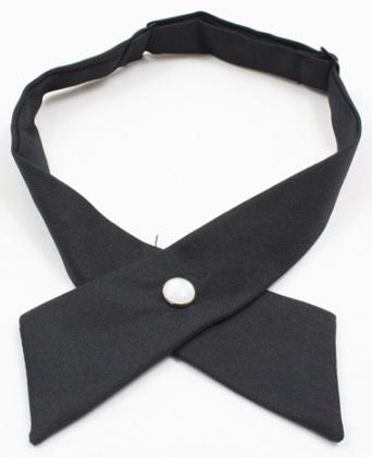 Girls Crossover Neck Tie - Navy Blue