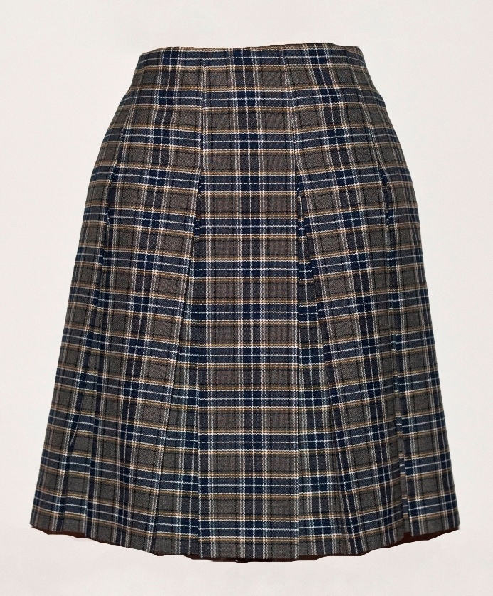 Drop Waist Skirt - Knife Pleats - 100% Polyester - Plaid #42