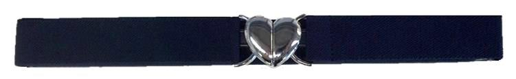 Adjustable Stretch Belt - Heart Buckle