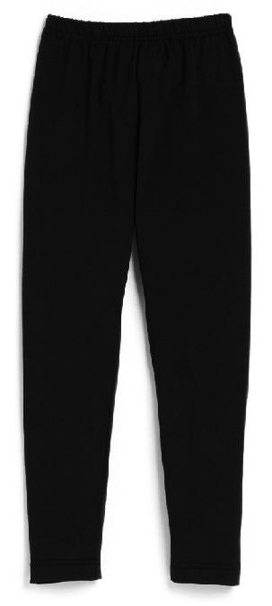 Girls Knit Leggings - Black