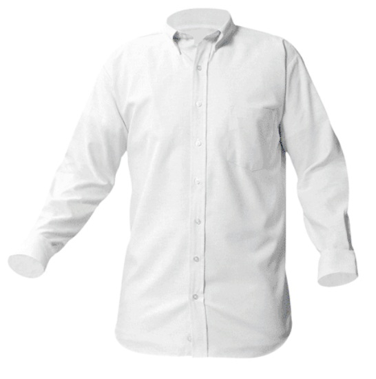 Boys Oxford Dress Shirt - Long Sleeve - White