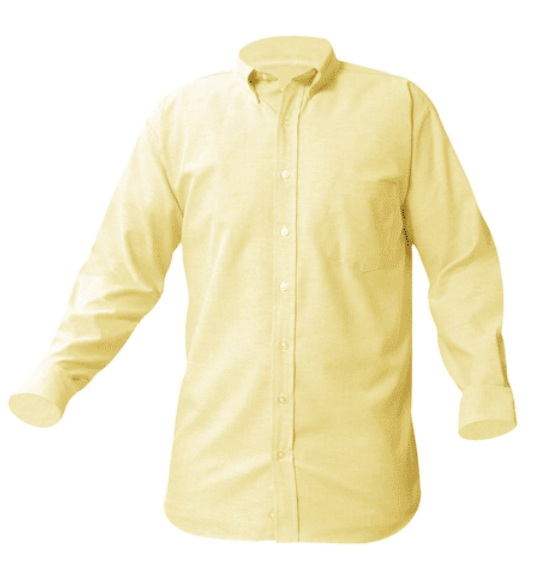 Girls Oxford Dress Shirt - Long Sleeve - Yellow