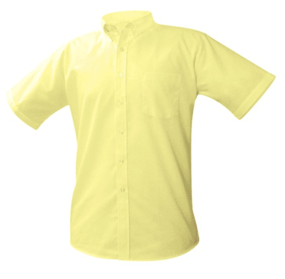 Boys Oxford Dress Shirt - Short Sleeve - Yellow