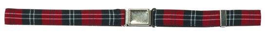 Adjustable Plaid Belt - Magnet Closure