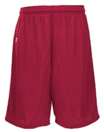 "Russell Athletic Mesh Shorts - 7""- 9"" Inseam - Burgundy"