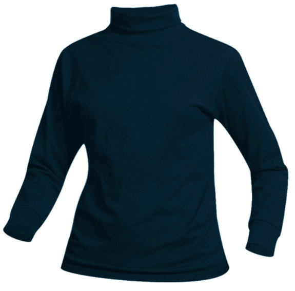 Unisex Knit Turtleneck - Navy Blue