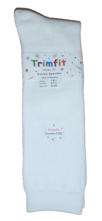 Trimfit - Girls Knee High Socks - White