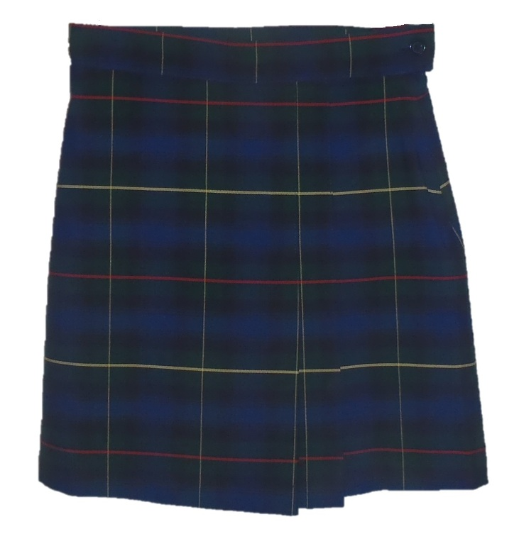 #UD55 Skort with 2 Pleats - Front & Back - Plaid #55