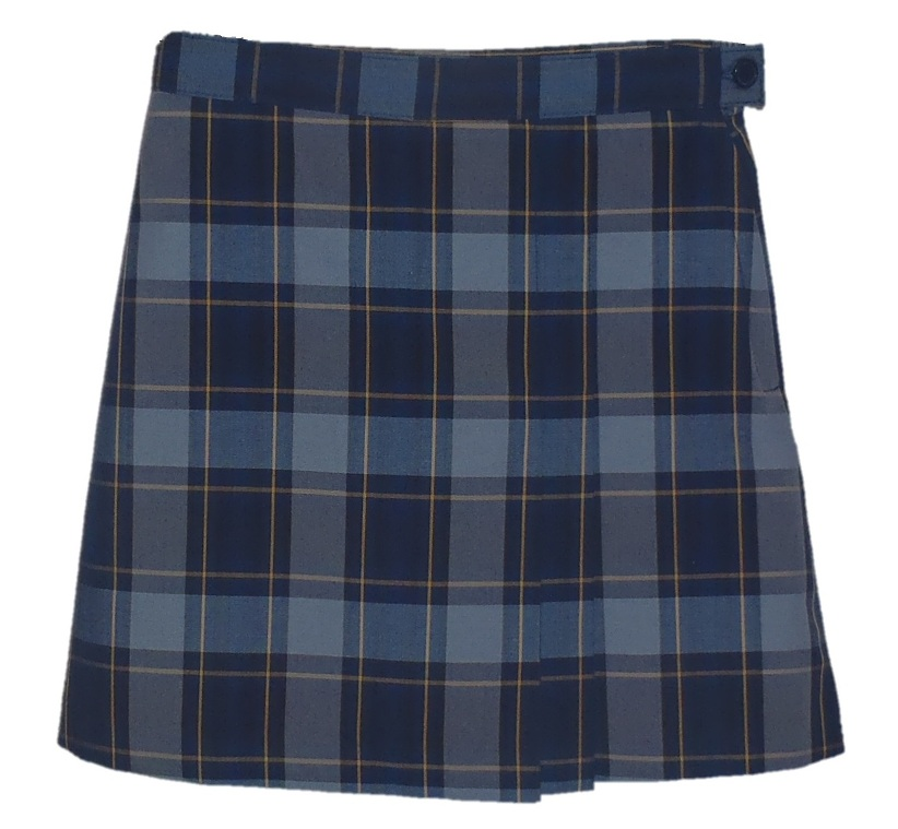 #UD57 Skort with 2 Pleats - Front & Back - Plaid #57